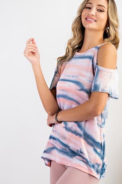 143 - Zebra Dye One Shoulder Top