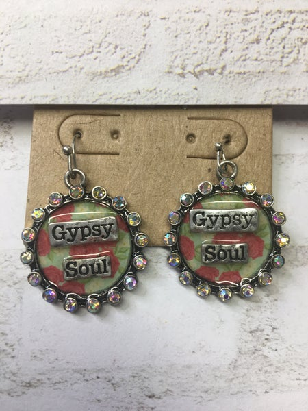 """Gypsy Soul"" Floral Earrings"
