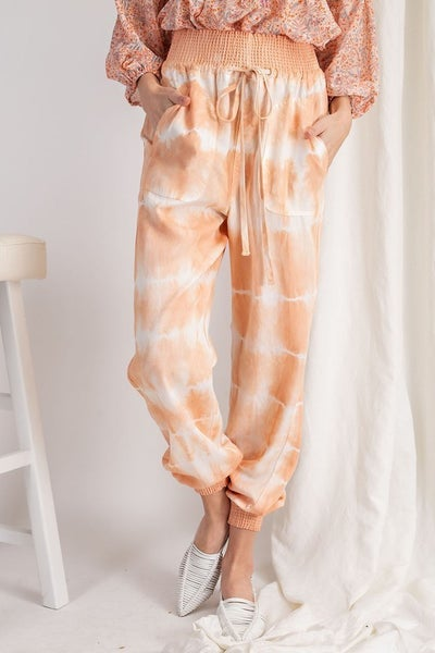 Easel - Lucky To Have You Tie Dye Jogger Pant