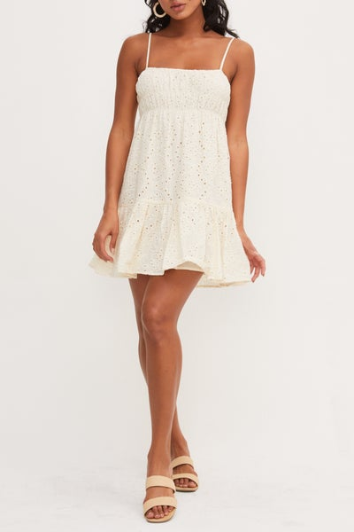Lush - Embroidered Dress