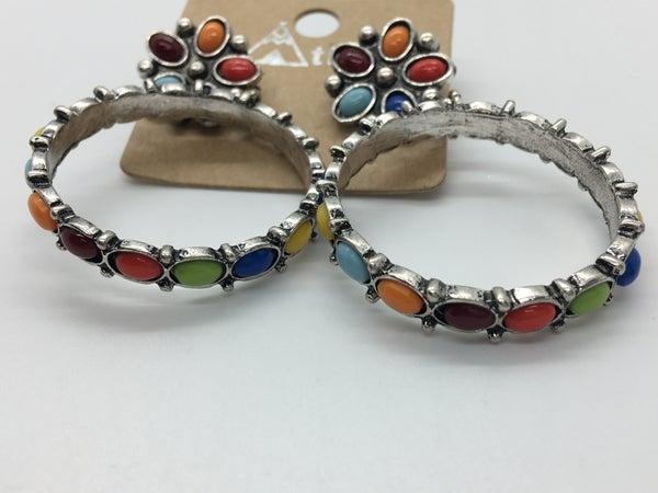 Western Circle Earrings