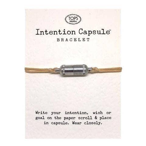 Intention Capsule Bracelet - Silver - Natural