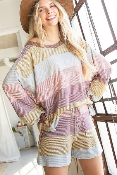 Bucketlist - Soft Jersey Multi Striped Shorts