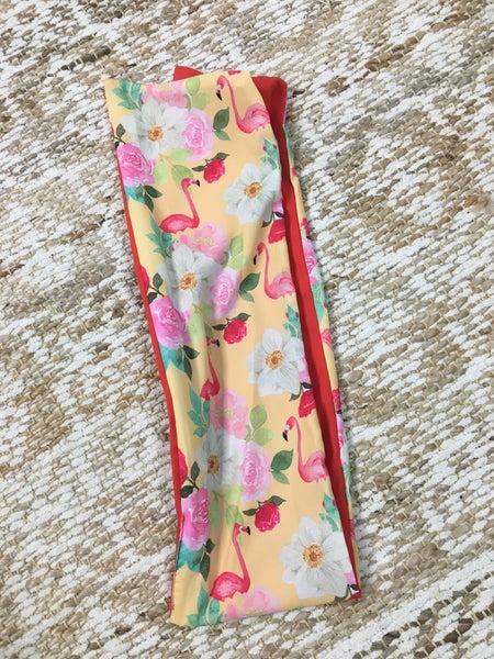 Floral Flamingo Turban Headband