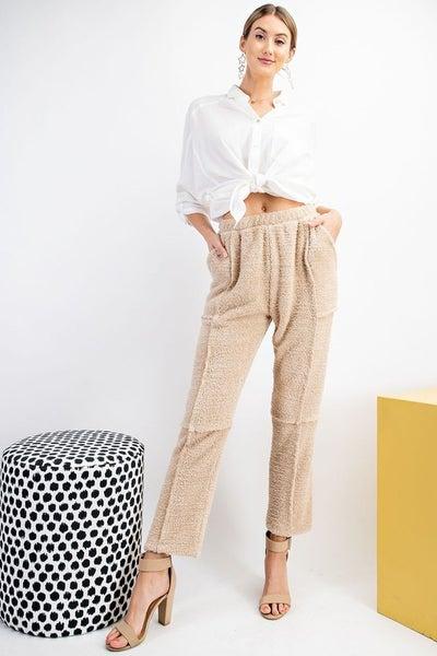 Easel - Teddy Fur Comfy Lightweight Pants