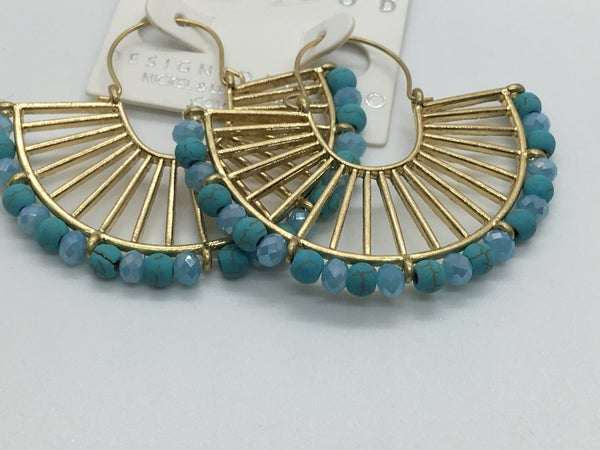 Gold & Bead Earring - 2 Colors