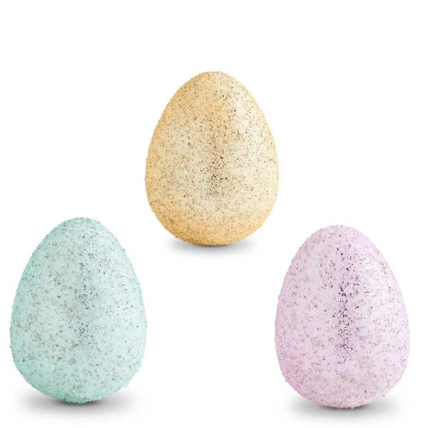 Small Glass Glitter Eggs