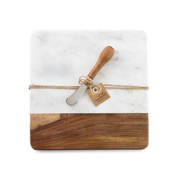 Marble & Wooden Board Set