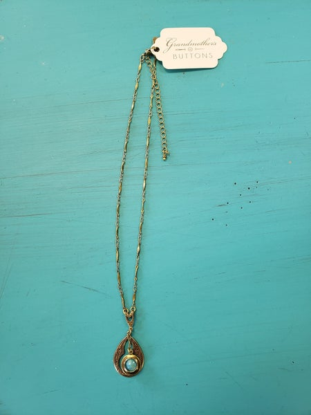 Vintage Midcentury Moonglass Necklace