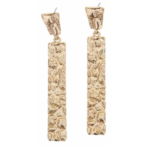 Matte Gold Rectangular Earrings