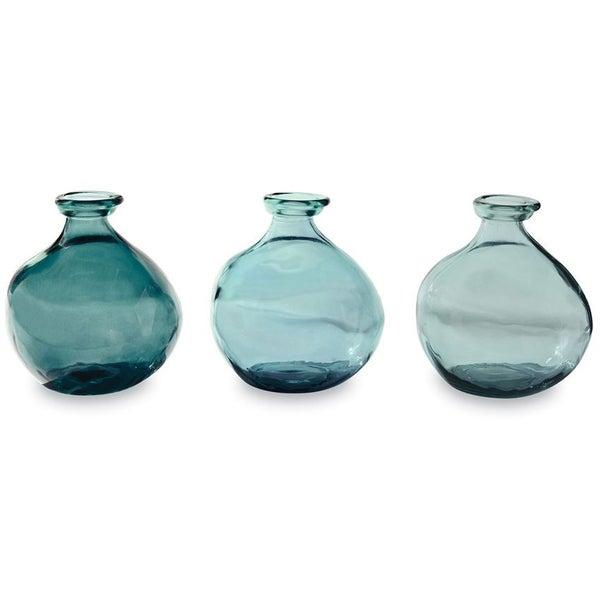 short glass vase