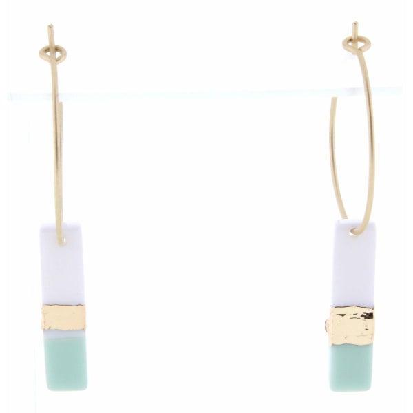 Colorblock Rectangle Earrings