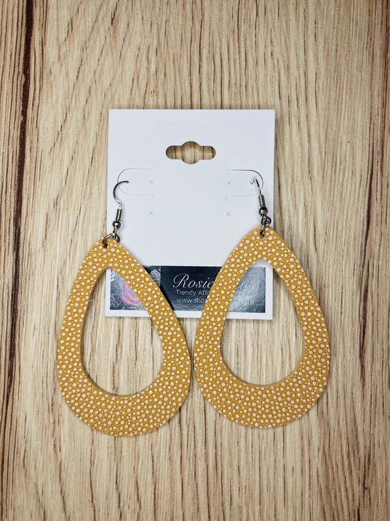 Open Honey Teardrop Earrings