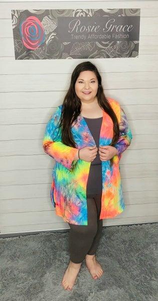 Neon Tie Dye Kimono