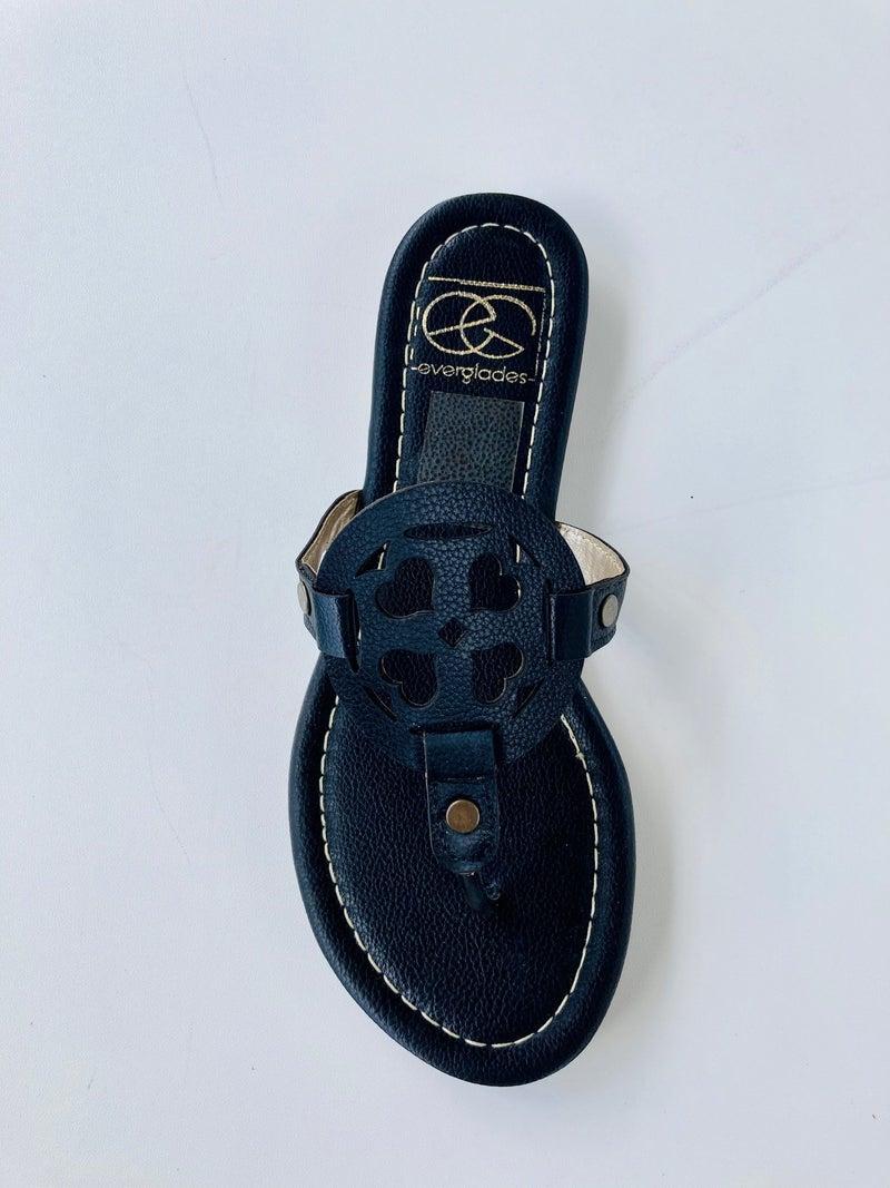 Lulu Heart Sandals- Black
