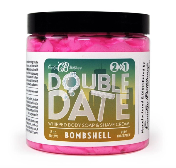 Bomb Shell Double Date Whipped Soap and Shave Cream
