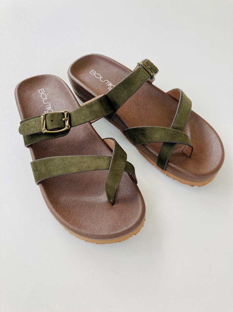 Corkys Heavenly Olive Sandals