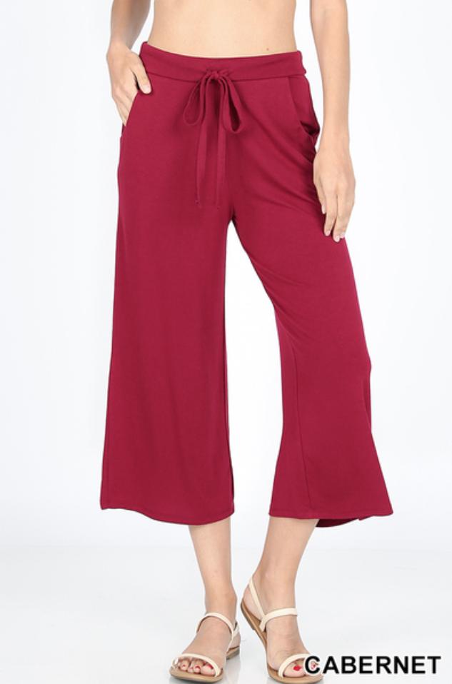 Zenana Cropped Lounge Pants with Drawstring *Final Sale*