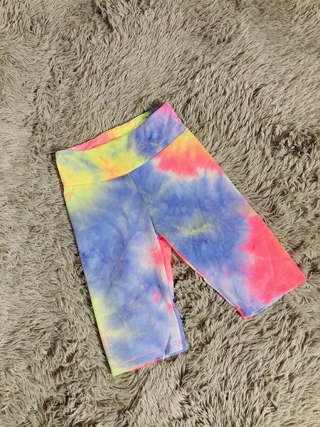 Neon Tie Dye Biker Shorts