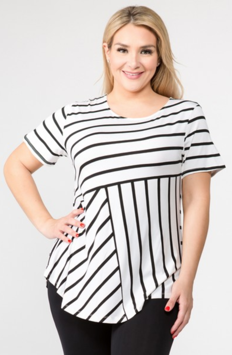 White Striped Tunic