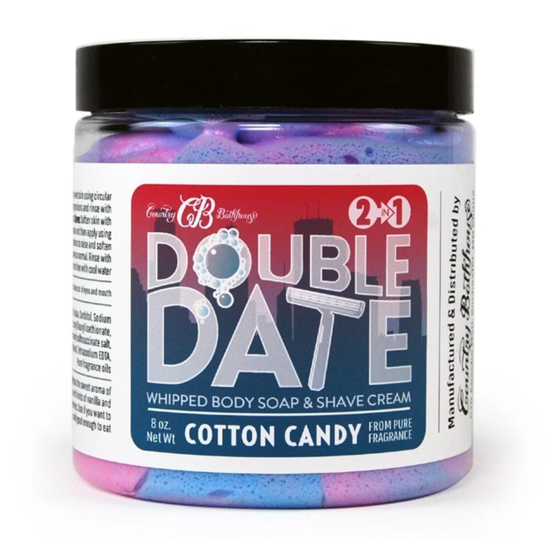 Cotton Candy Double Date Whipped Body Soap & Shave Cream