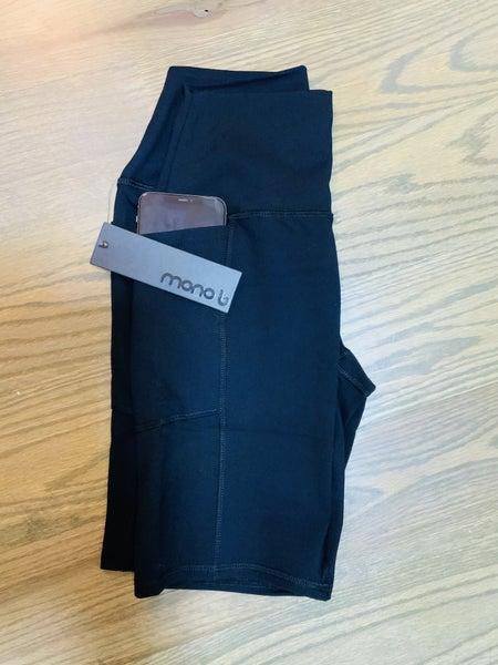 Mono B Black Bike Shorts with pockets