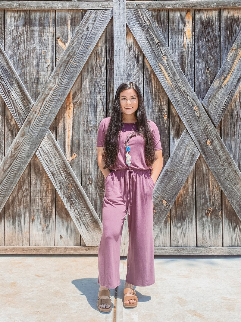 Zenana Cropped Jumpsuit
