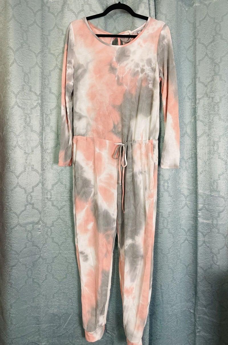 Peach Haze Tie Dye Jumpsuit
