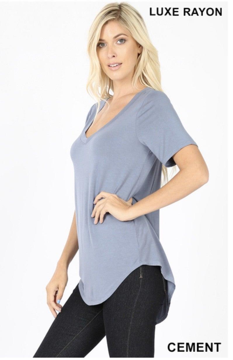 Zenana Luxe Rayon Short Sleeve Top