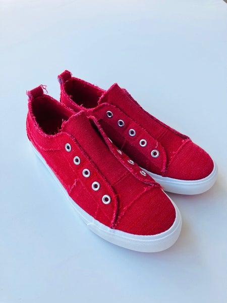 Corkys Red Babalu Slip-On Sneaker