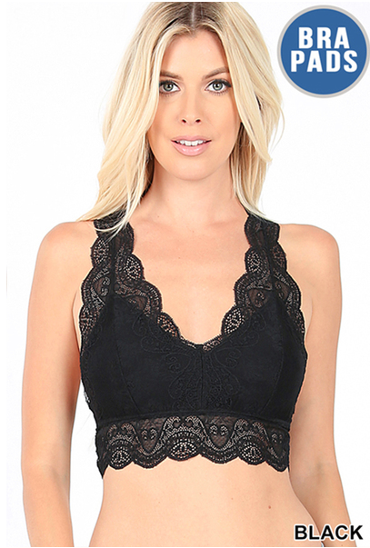 Laced Out Hourglass Bralette w/ Removable Pads *Final Sale*