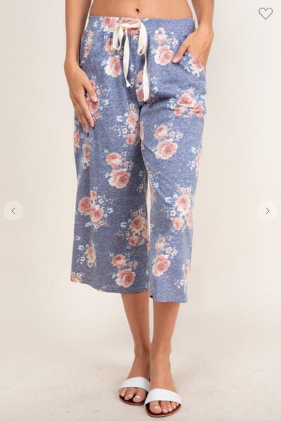 Floral Capri Pajama Pants