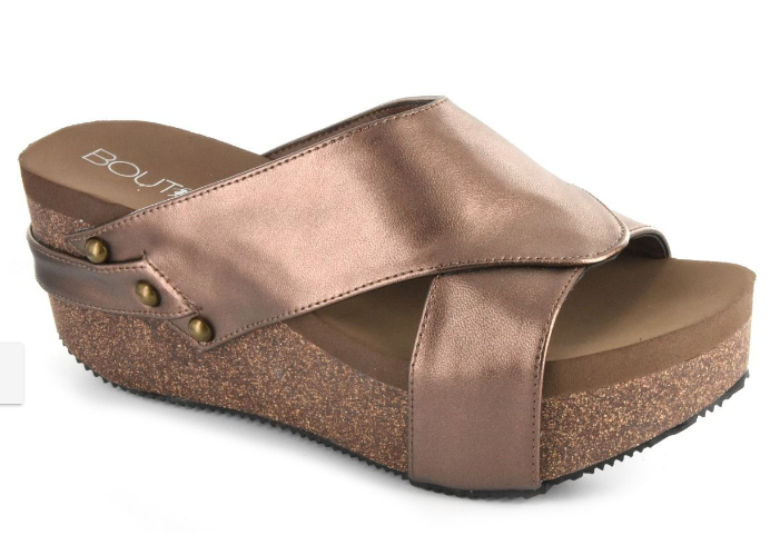Corkys Bronze Wedge Sandal