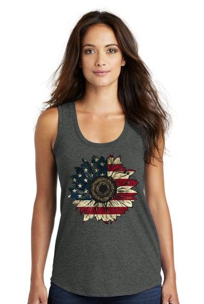 Patriotic Sunflower Tank top