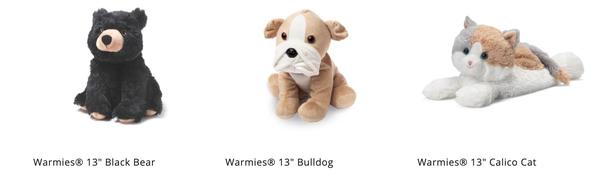 "Warmies Cozy Plush 13"" Animals"