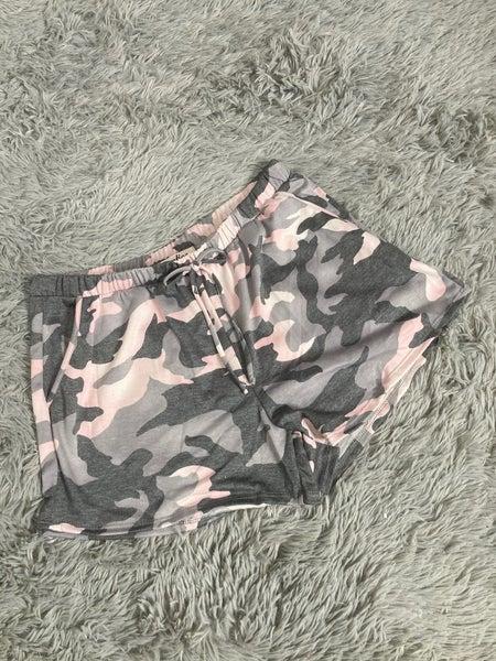 Pink Camo Lounge Shorts