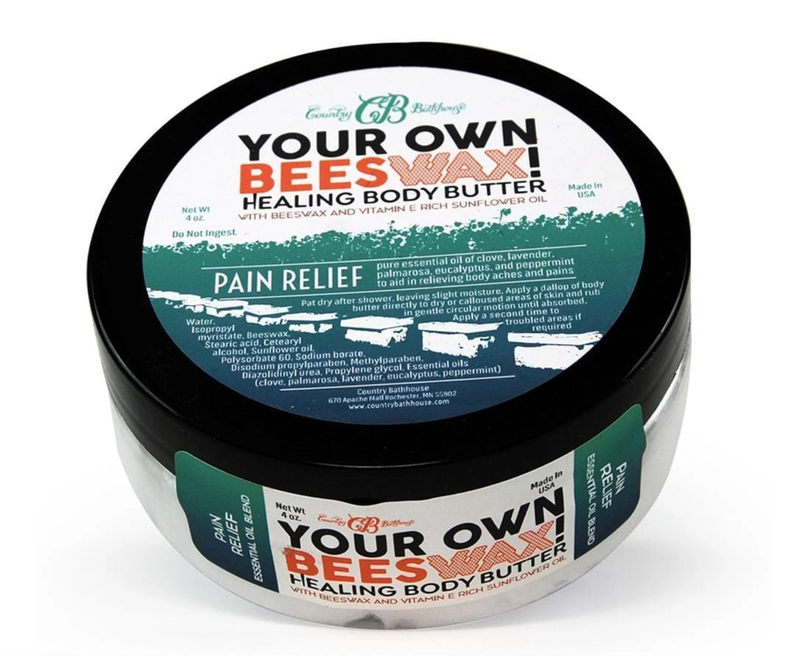 Country Bathhouse Beeswax Body Butter-Pain Relief