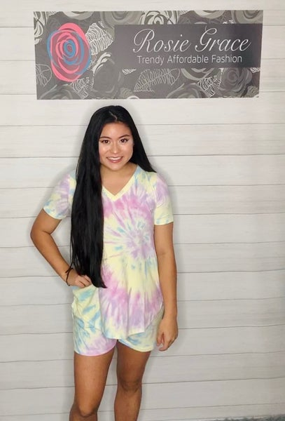 Sweet Lime and Lavender Lounge Top