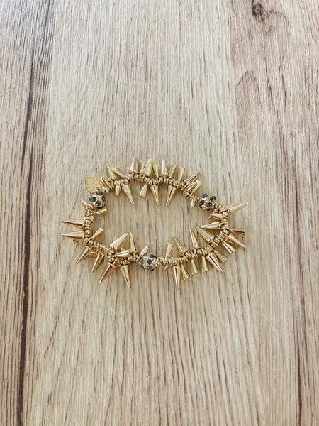 Dottie Gold Spike Bracelet