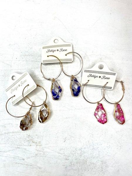 Geode Hoop Earrings