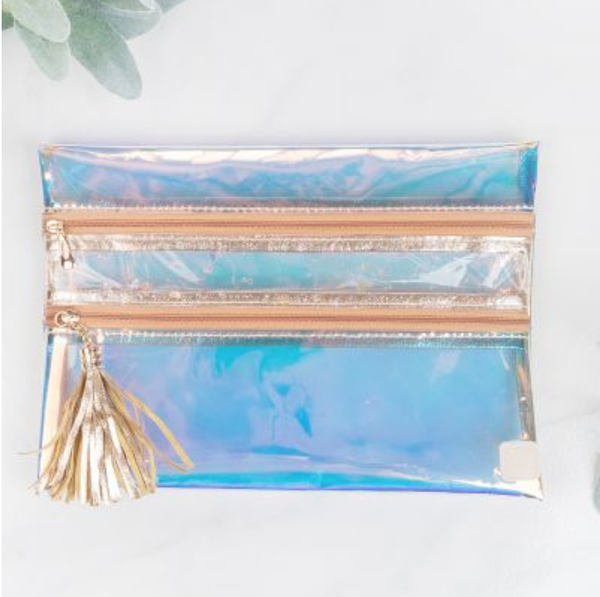 Rainbow Holographic Clear Versi bag