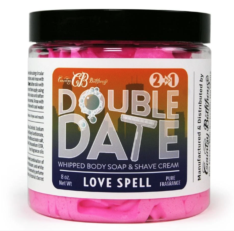 Love Spell Double Date Whipped Soap and Shave Cream