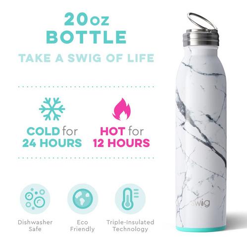 Swig Marble Slab 20oz Bottle