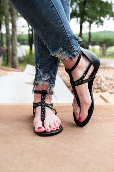 Summer Strut Sandals Black