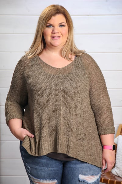 Nothing Better Than This Sweater Top Olive *Final Sale*