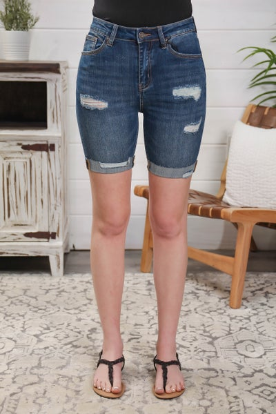We Will Rise High Rise Bermuda Shorts