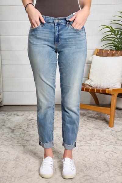 Walk This Way Mid Rise Boyfriend Fit Jeans