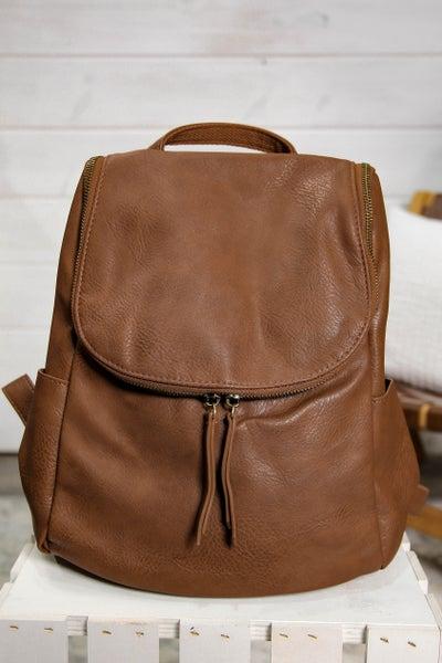 Backpack w/ Side Pockets Saddle