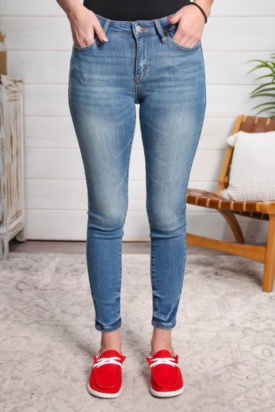 Let's Get Moving Mid Rise Skinny Jeans