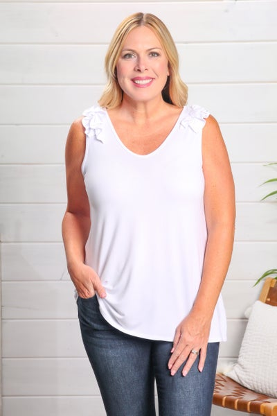 Trending Just Right Tank White